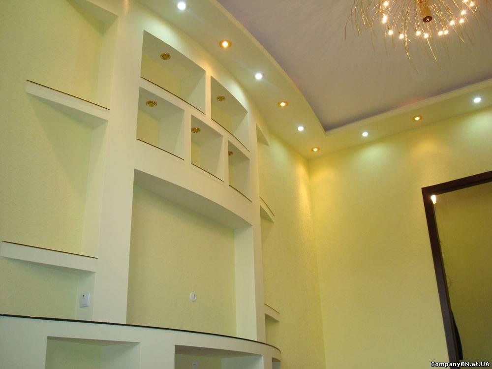 Фото дизайна стен из гипсокартона